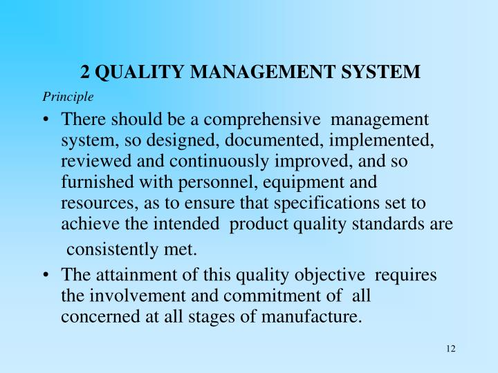 2 QUALITY MANAGEMENT SYSTEM