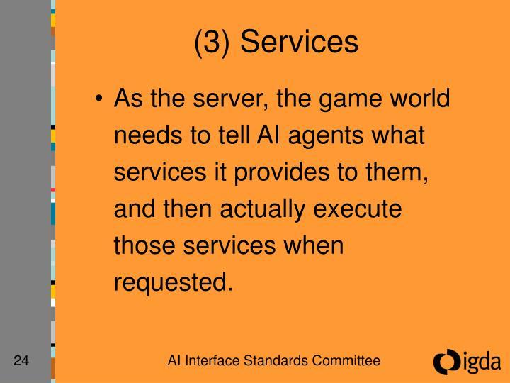 (3) Services