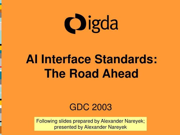 Ai interface standards the road ahead