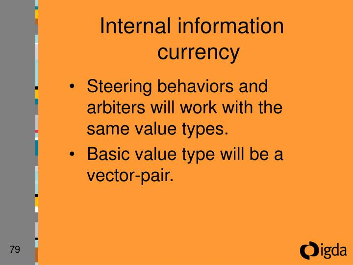 Internal information currency