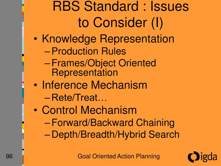 RBS Standard : Issues to Consider (I)