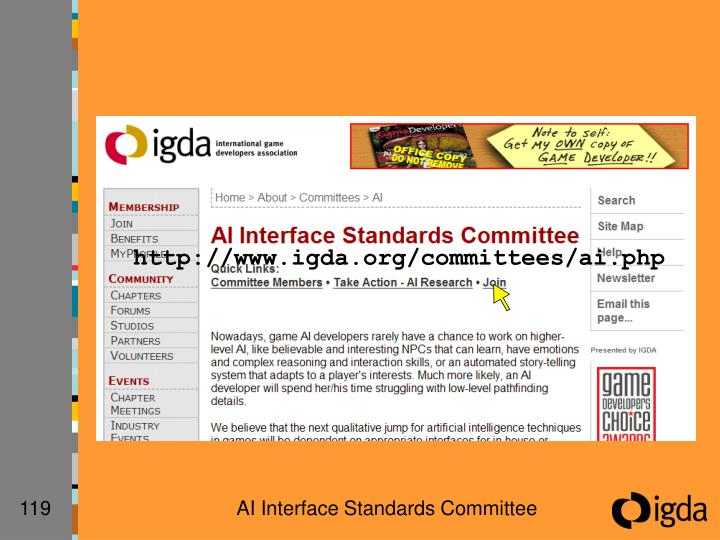 http://www.igda.org/committees/ai.php
