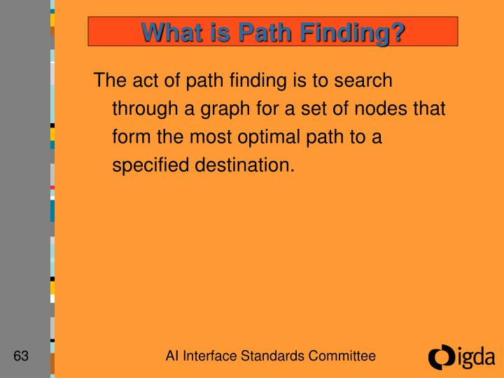 What is Path Finding?