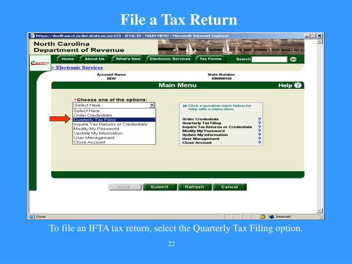 File a Tax Return