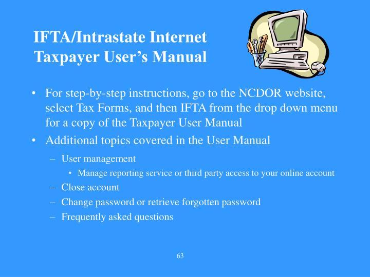 IFTA/Intrastate Internet