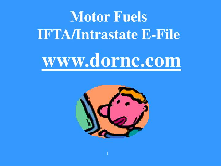 Motor fuels ifta intrastate e file