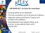 microflex les bases du consortium
