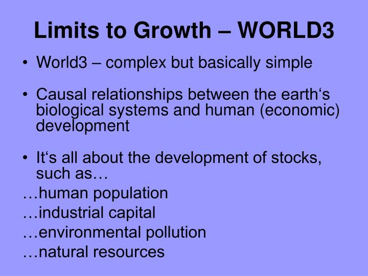 Limits to Growth – WORLD3