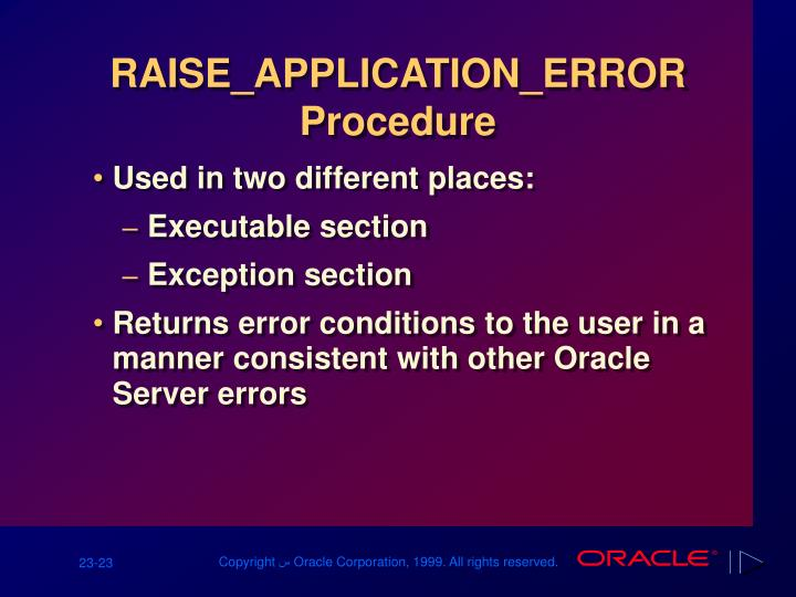 RAISE_APPLICATION_ERROR