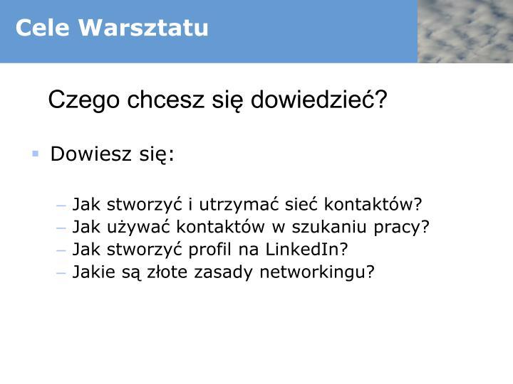 Cele Warsztatu