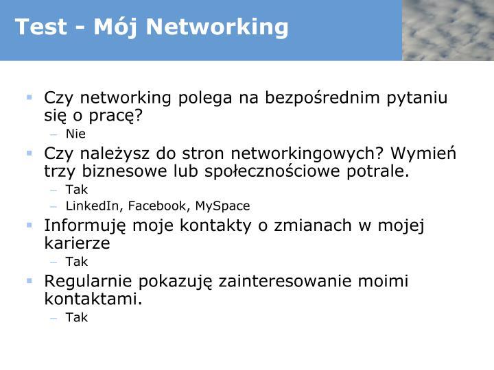Test - Mój Networking