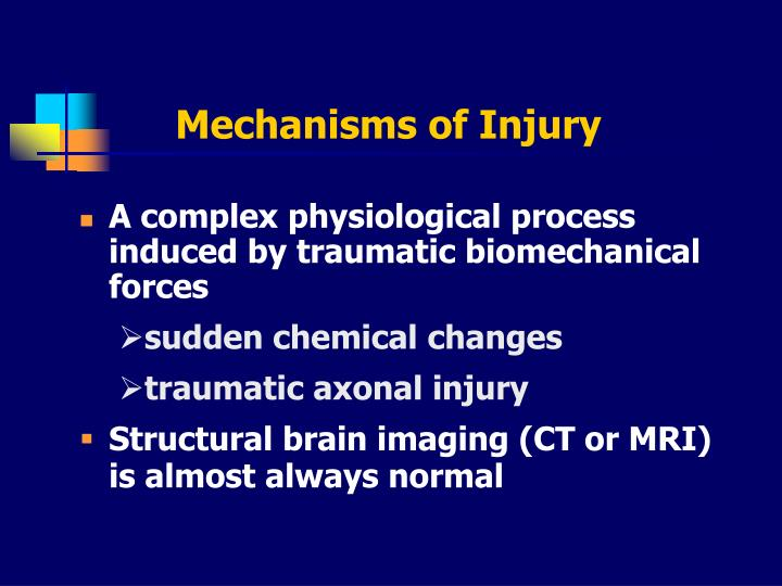 Mechanisms of Injury