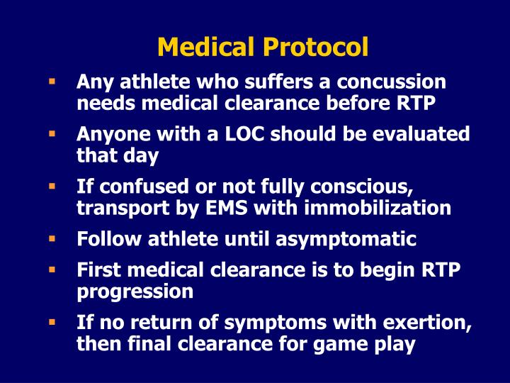 Medical Protocol