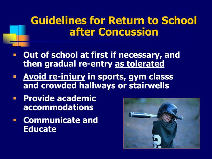 Guidelines for Return to School