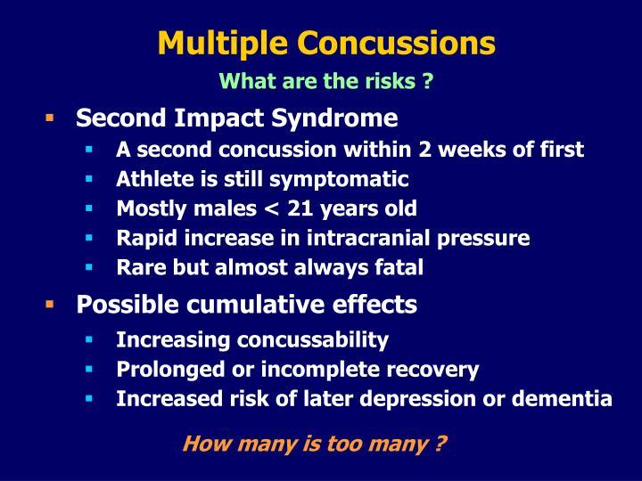 Multiple Concussions