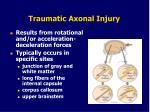 traumatic axonal injury