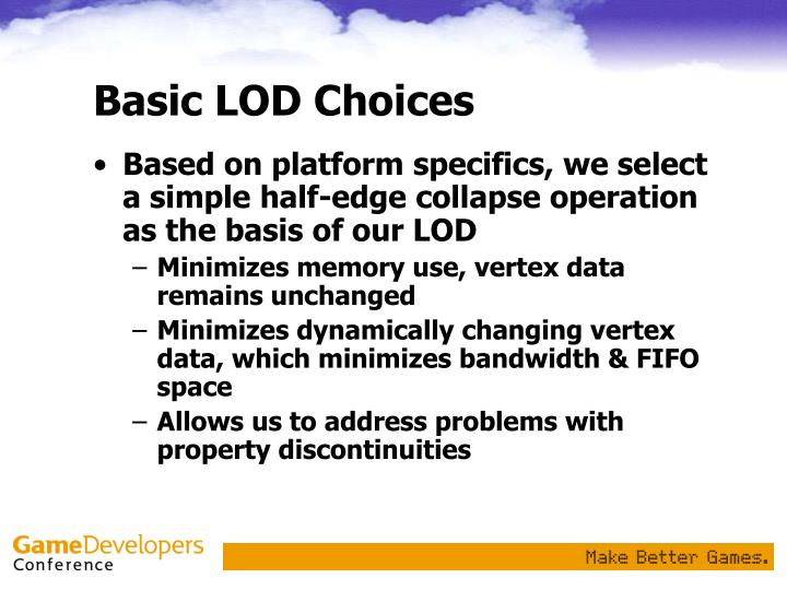 Basic LOD Choices