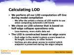 calculating lod
