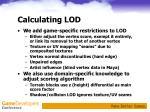 calculating lod2
