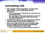 calculating lod4