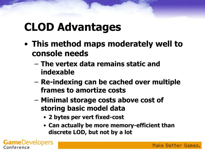 CLOD Advantages