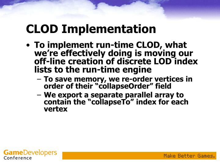 CLOD Implementation