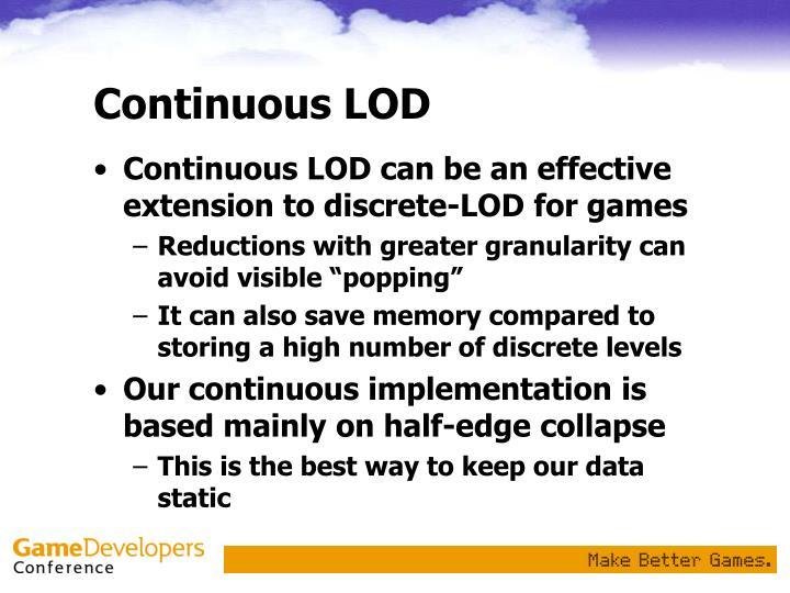 Continuous LOD