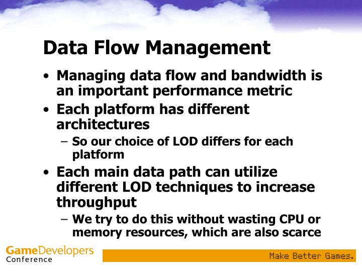 Data Flow Management