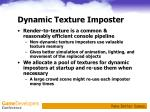 dynamic texture imposter