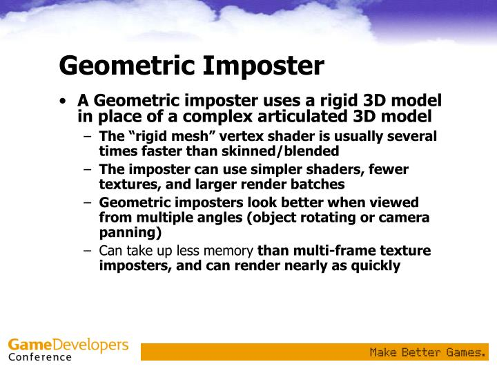 Geometric Imposter