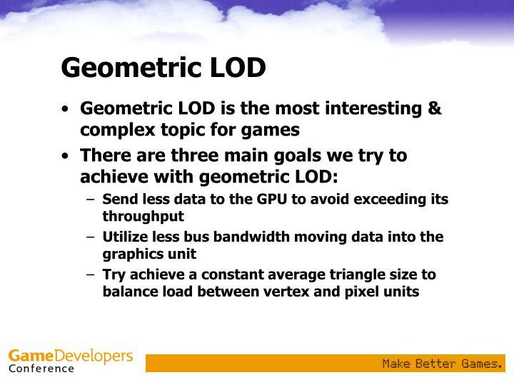 Geometric LOD