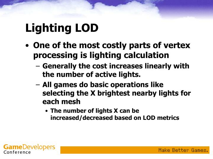 Lighting LOD