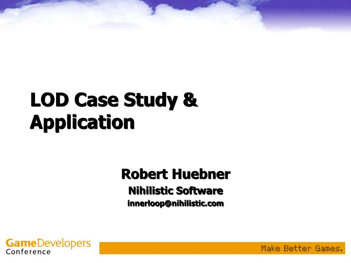 Lod case study application
