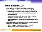 pixel shader lod