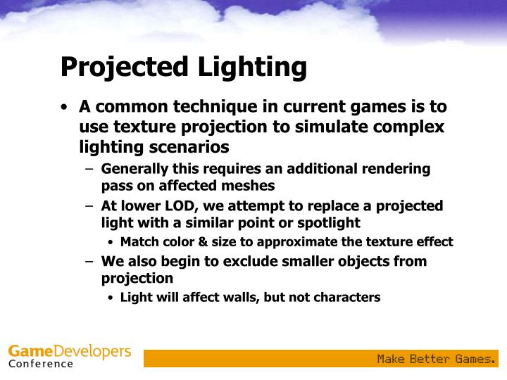 Projected Lighting