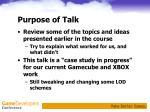 purpose of talk