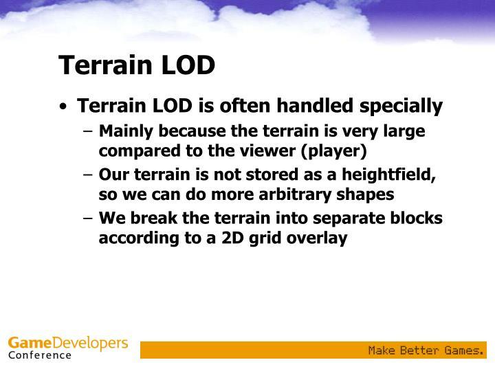 Terrain LOD