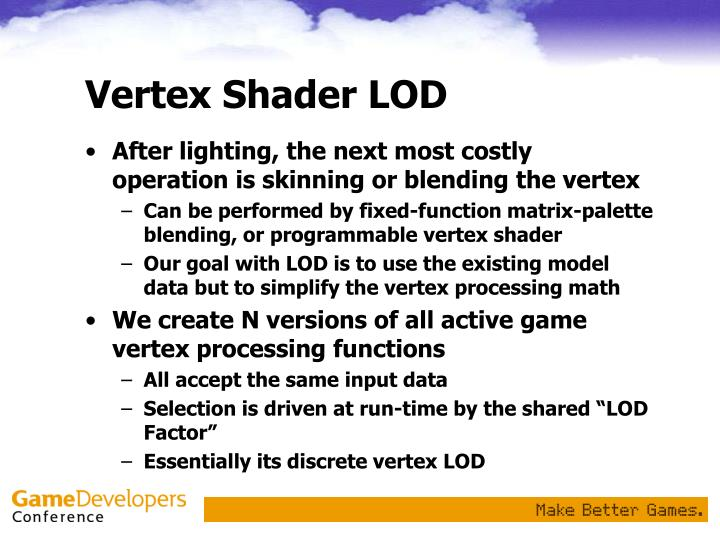 Vertex Shader LOD