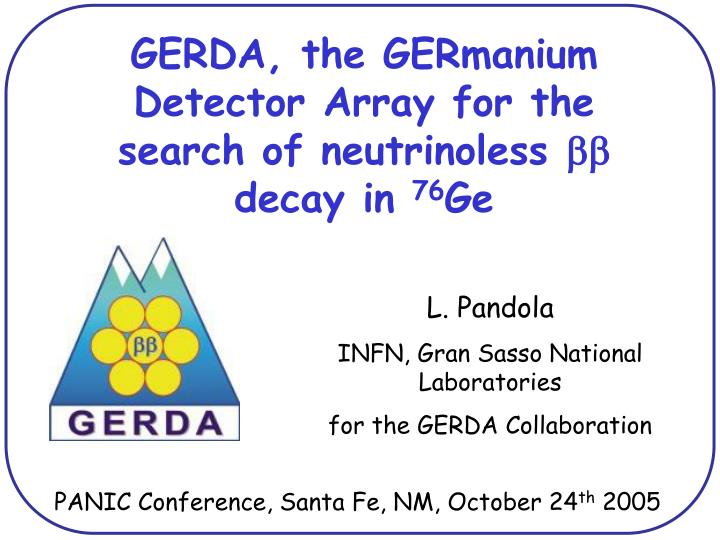 GERDA, the GERmanium Detector Array for the search of neutrinoless