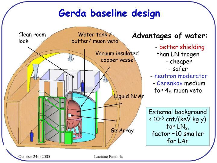 Gerda baseline design