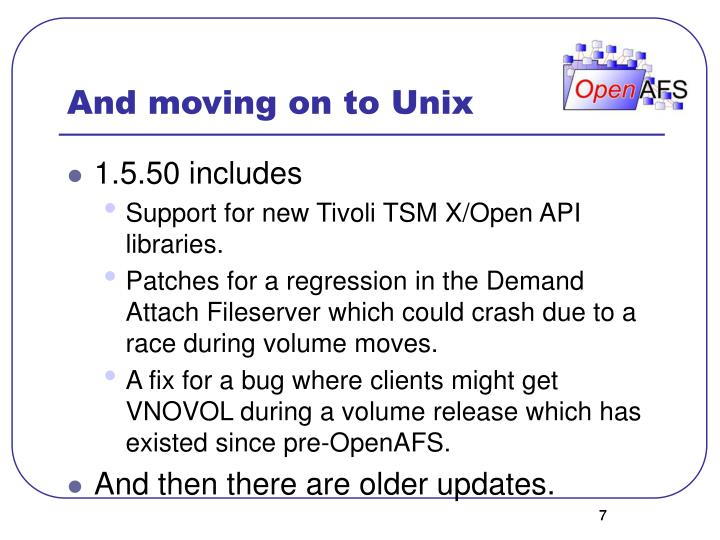 And moving on to Unix