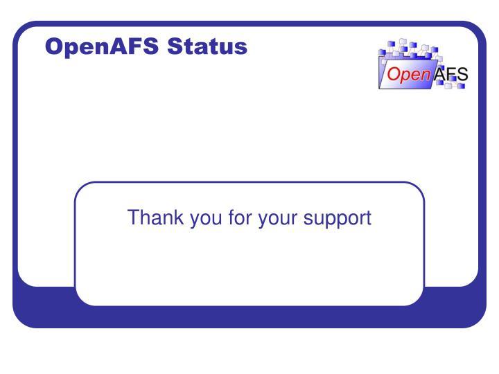 OpenAFS Status