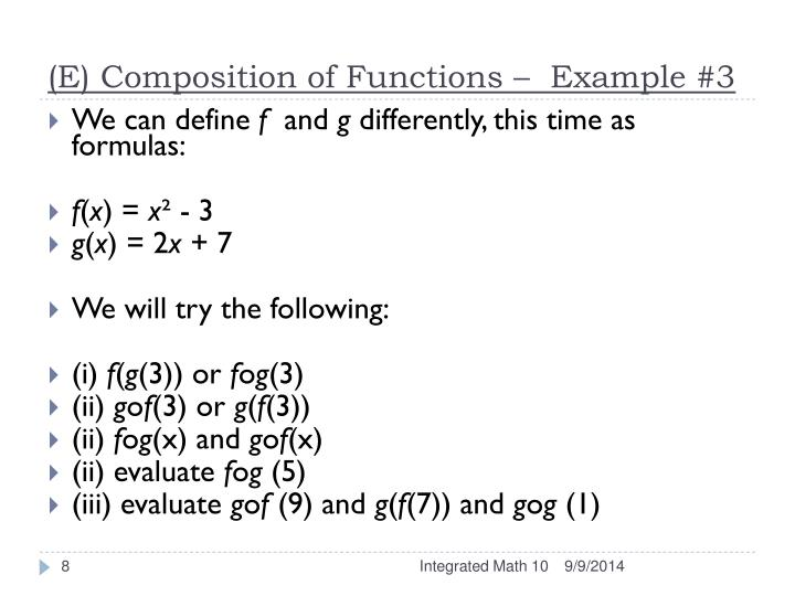 Composition of functions worksheet answers pdf