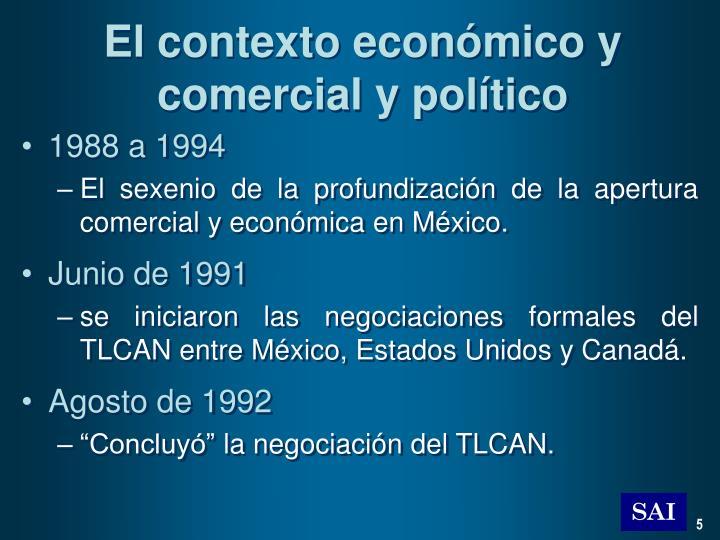 El contexto económico y comercial y político