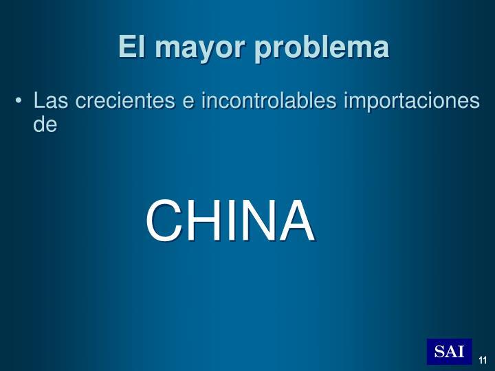 El mayor problema