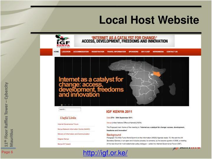 Local Host Website
