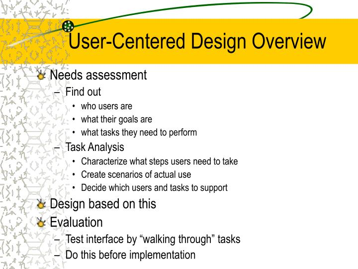 User-Centered Design Overview
