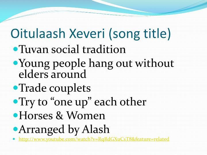 Oitulaash Xeveri (song title)