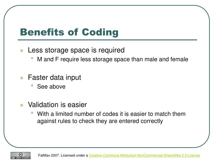 Benefits of Coding