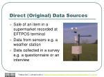 direct original data sources
